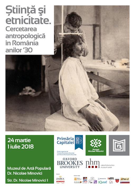 Afis expo Cercetare antropologica Minovici martie 2018