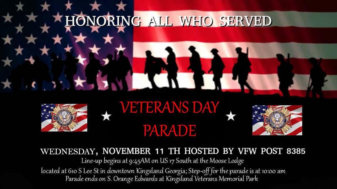 2020 Veterans Day Parade Flyer