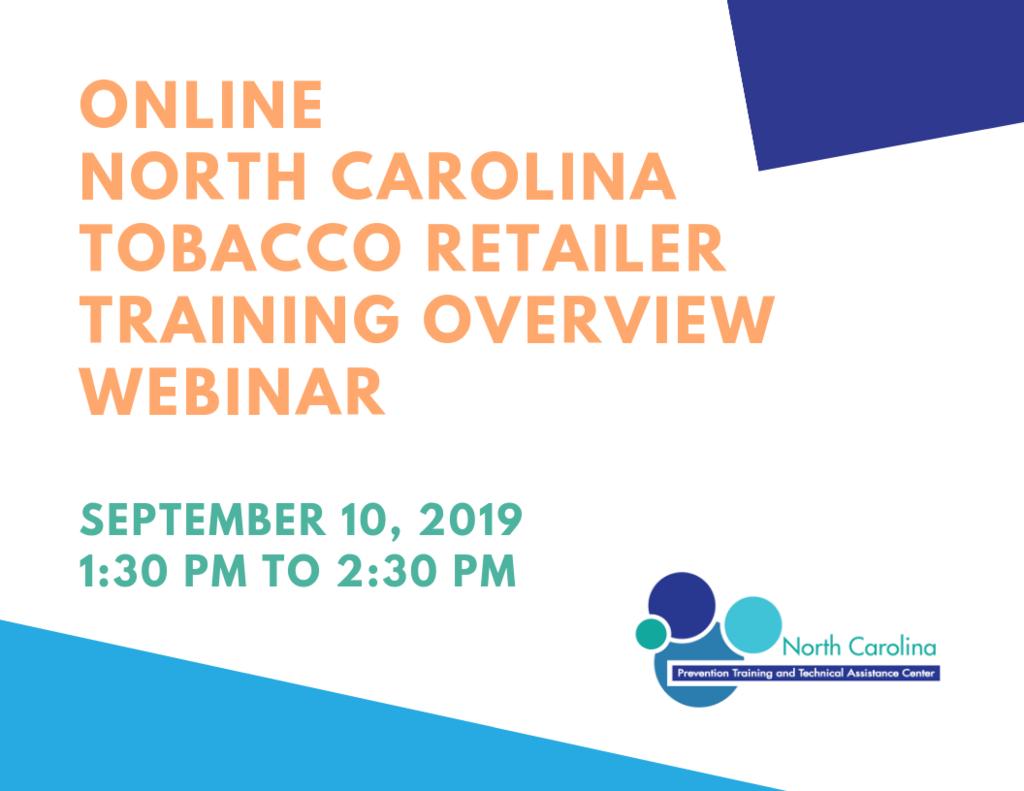 North Carolina Tobacco Retailer Training