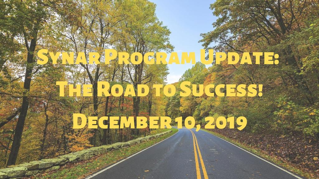 Synar Program Update_ The Road to Success!