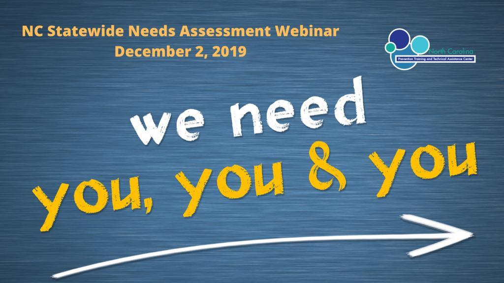 Statewide Needs Assessment Webinar