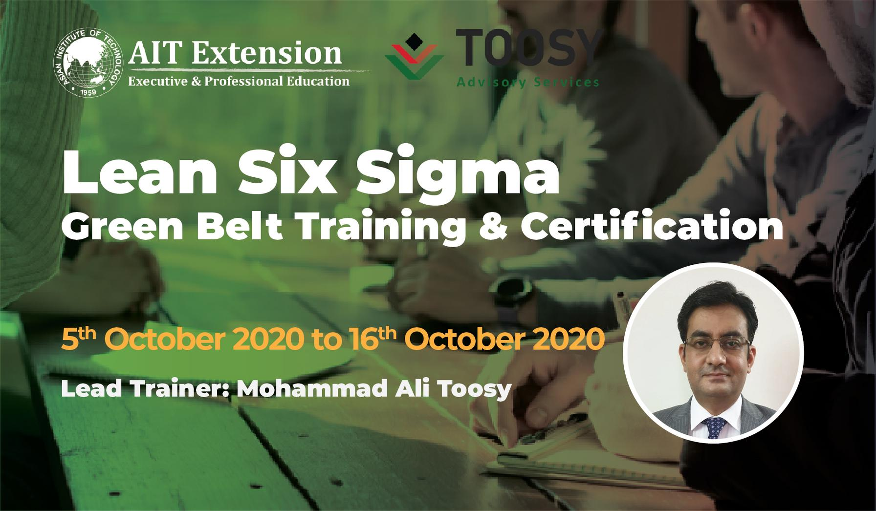 2-Lean Six Sigma Green Belt_Banner_5 Oct- 16 Oct 2020