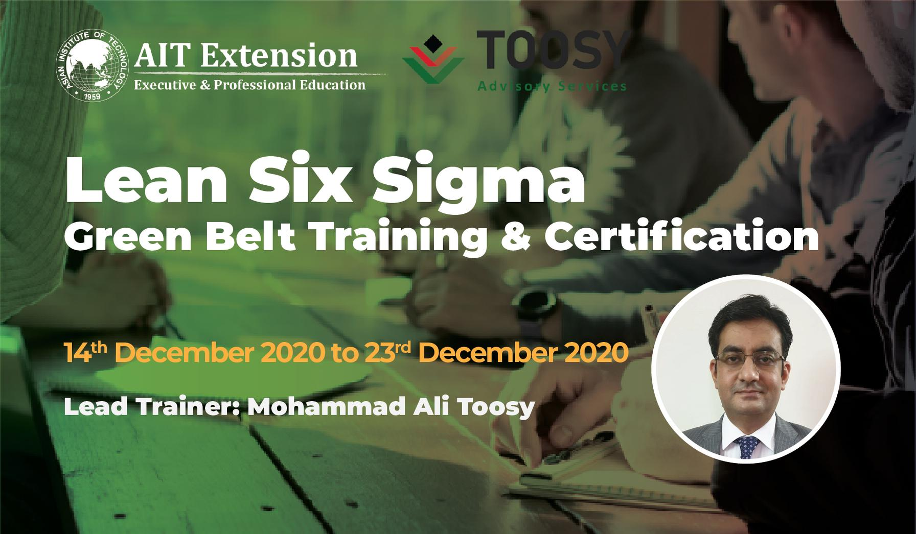 3-Lean Six Sigma Green Belt_Banner_14 Dec- 23 Dec 2020